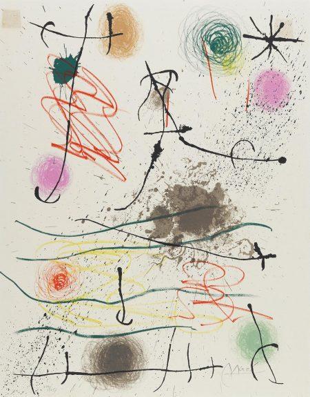 Joan Miro-Pl. 2, From Quelques Fleurs Pour Des Amis (M. 407; C. Bk. 92)-1964
