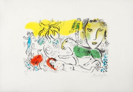 Marc Chagall-Untitled, From Chagall Monumental, Revue XXe Siecle (M. 699)-1973