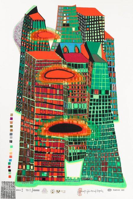 Friedensreich Hundertwasser-Good Morning City--Bleeding Town (K. 42)-1971
