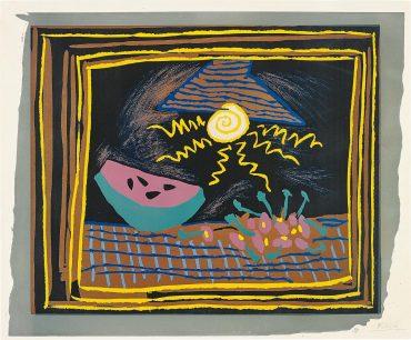 Pablo Picasso-Nature Morte A La Pasteque (Still Life With Watermelon)-1962