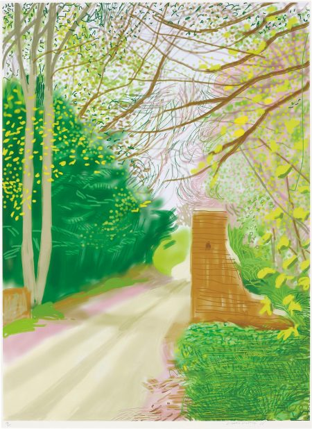 David Hockney-17Th April, From The Arrival Of Spring In Woldgate, East Yorkshire In 2011 (Twenty Eleven)-2011