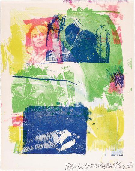 Robert Rauschenberg-Storyline I, From Reels (B+C)-1968