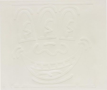 Keith Haring-White Icons: One Plate-1990