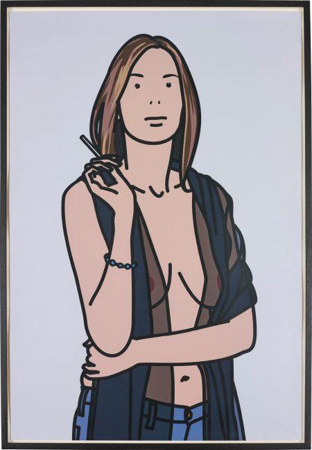 Julian Opie-Ruth Smoking 5-2006
