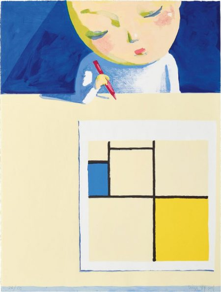 Girl With Mondrian-2001