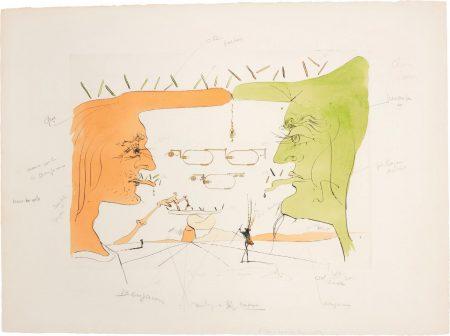 Salvador Dali-Le Telegraphe (The Telegraph), For Hommage A Leonardo Da Vinci (American Inventions)-1975