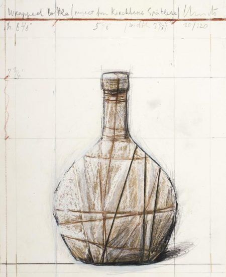 Christo And Jeanne-Claude - Wrapped Bottle, Project For Kirchberg Spatlese-2007