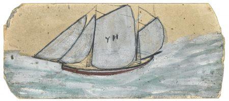 Alfred Wallis-A Schooner Under Full Sail-