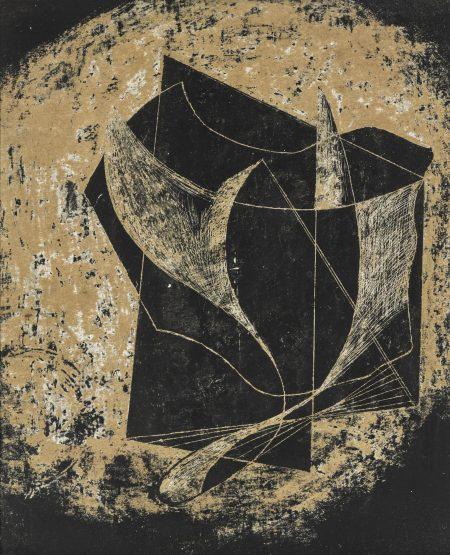Peter Lanyon-Black Form-1945