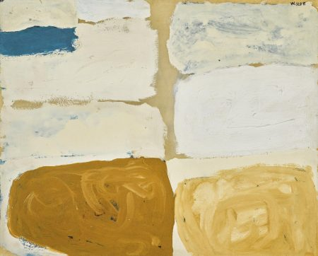 William Scott-Tan, White & Blue-1960