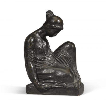 Aristide Maillol-Jeune Fille Assise Vetue-1930