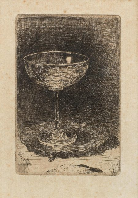 James Abbott McNeill Whistler-The Wine Glass (Kennedy 27,Glasgow 38)-1858