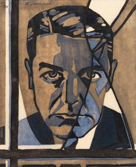 Lill Tschudi-The Broken Window: Portrait Of Clive Brook (Coppel Lt 9)-1930
