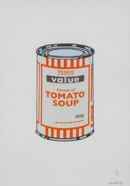 Banksy-Soup Can (Mint/Orange/Brown)-2005