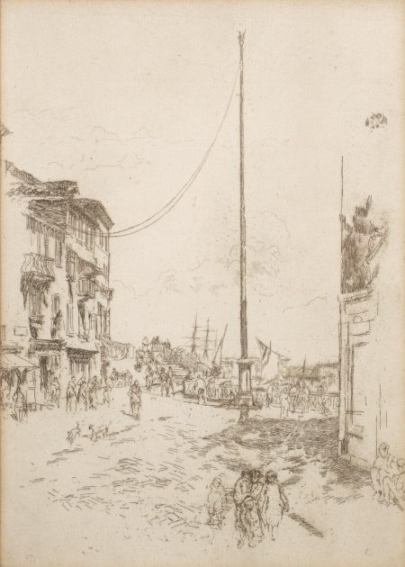 James Abbott McNeill Whistler-The Little Mast, From The First Venice Set (Kennedy 185; Glasgow 196)-1880