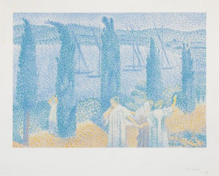 Henri-Edmond Cross-La Promenade, Ou Les Cypres (Johnson 27)-1897