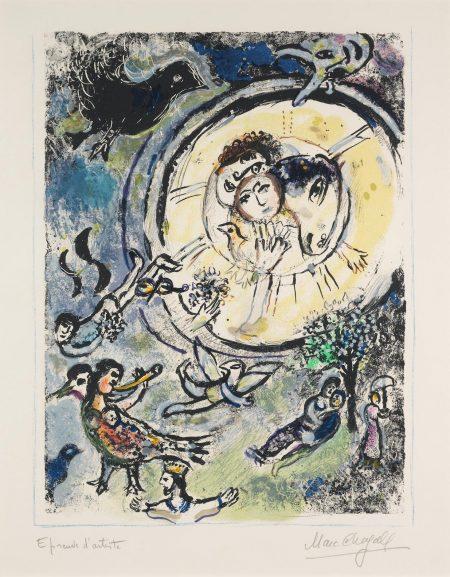 Marc Chagall-The Magic Flute III (Mourlot 667)-1972