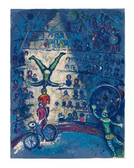 Marc Chagall-Le Cirque (Mourlot 490-527; Cramer Books 68)-1957