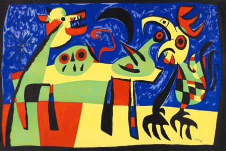 Joan Miro-Chien Aboyant A La Lune (Mourlot 189)-1952