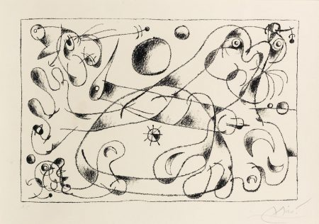 Joan Miro-Plate XXVIII, From Ubu Roi (Mourlot 487)-1966