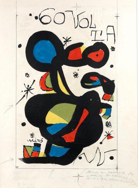 Joan Miro-Maquette For: 60 Volta Ciclista A Catalunya (See Mourlot1229)-1980