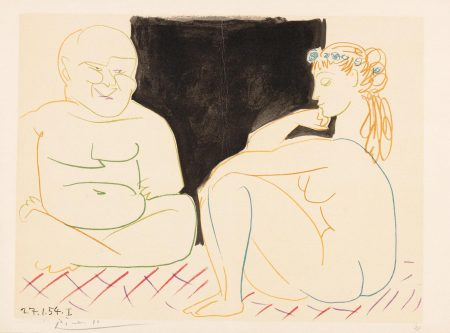 After Pablo Picasso -  One Plate, From Verve Nos.29-30-1954