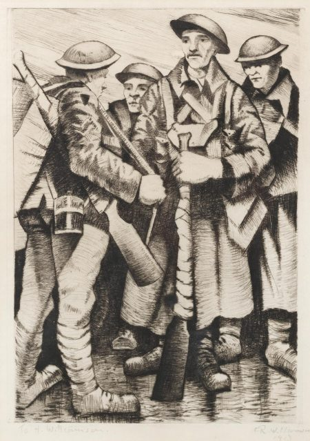 A Group Of Soldiers (Black 23; Leicester Galleries 14)-1917