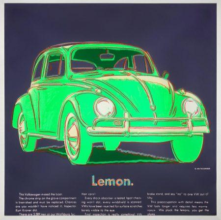 Andy Warhol-Volkswagen, From Ads (Feldman & Schellmann II.358)-1985