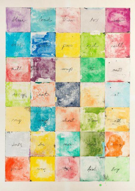 Jim Dine-Wall Chart I (Harper 166)-1974