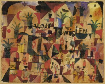 Paul Klee-Salon Tunisien (Verkehr Auf Dem Boulevart Tunis) Salon Tunisien (Traffic On The Boulevard Tunis)-1918