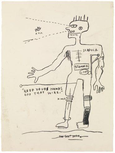 Jean-Michel Basquiat-Wire-1983