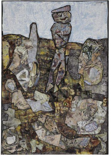 Jean Dubuffet-Beret Rose-1956