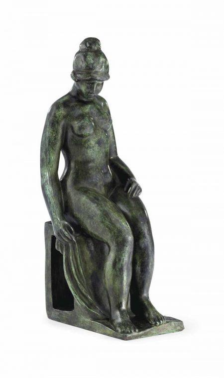 Aristide Maillol-Grande Femme Assise Au Socle Ajoure-1952