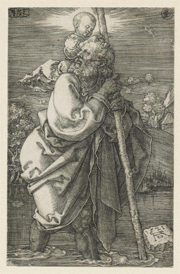 Albrecht Durer-Saint Christopher Facing To The Right & Saint Christopher Facing To The Left-1521