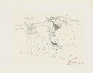 Pablo Picasso-Peintre Chauve Devant Son Chevalet, From: Le Chef-Doeuvre Inconnu-1927