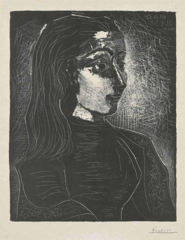 Pablo Picasso-Jacqueline De Profil A Droite-1958