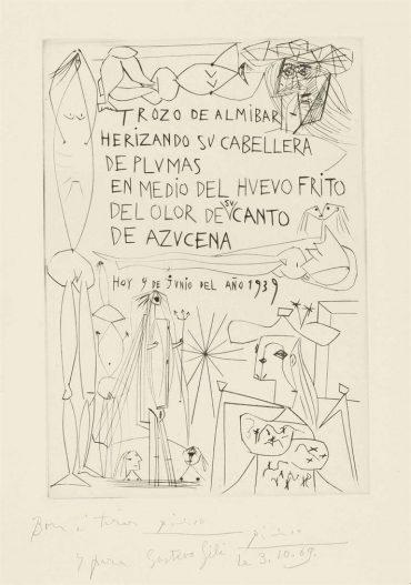Pablo Picasso-Frontispiece, From: El Entierro Del Conde De Orgaz-1939