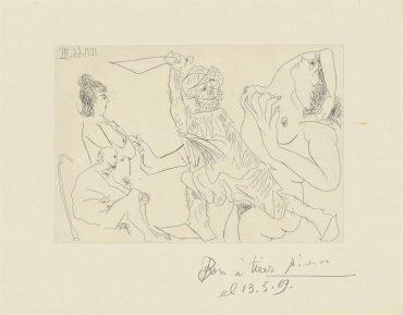 Pablo Picasso-Plate 1, From: El Entierro Del Conde De Orgaz-1966