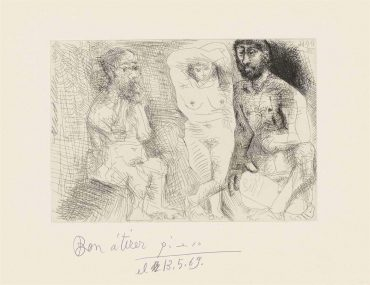 Pablo Picasso-Plate 2, From: El Entierro Del Conde De Orgaz-1966