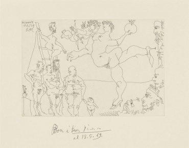 Pablo Picasso-Plate 4, From: El Entierro Del Conde De Orgaz-1966
