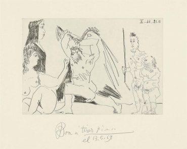 Pablo Picasso-Plate 5, From: El Entierro Del Conde De Orgaz-1966