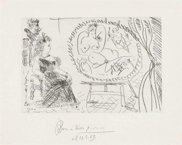 Pablo Picasso-Plate 9, From: El Entierro Del Conde De Orgaz-1966