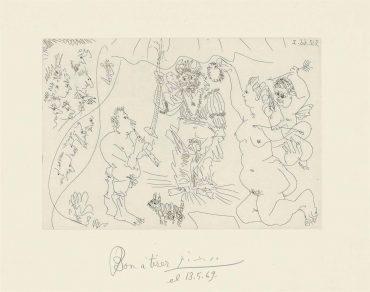 Pablo Picasso-Plate 10, From: El Entierro Del Conde De Orgaz-1966