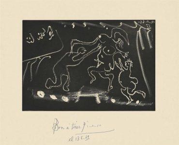 Pablo Picasso-Plate 15, From: El Entierro Del Conde De Orgaz-1966