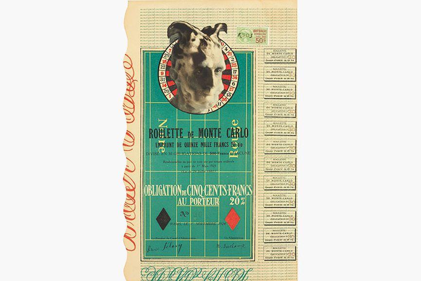 Marcel Duchamp Monte Carlo Bond No. 30
