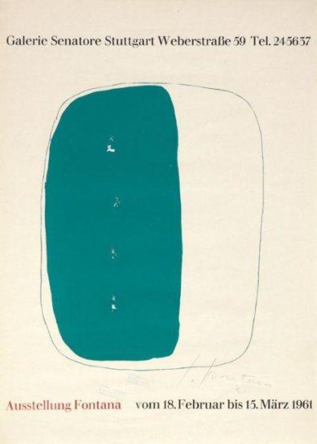 Lucio Fontana-Lotto di quattro manifesti-1961