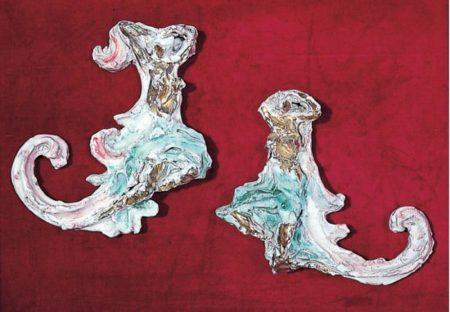 Lucio Fontana-Decorazioni con figura femminile-1953