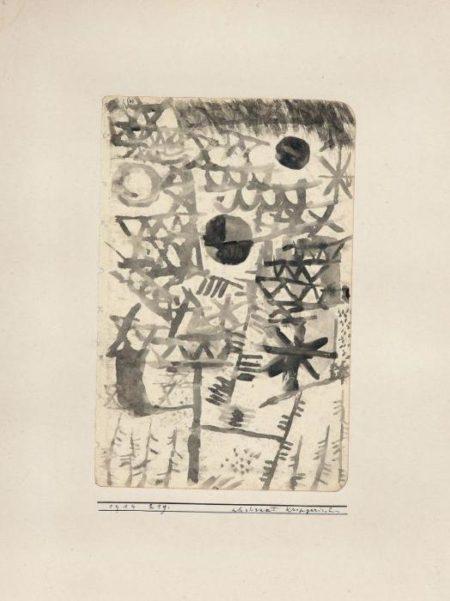 Paul Klee-Abstract Kriegerisch-1914