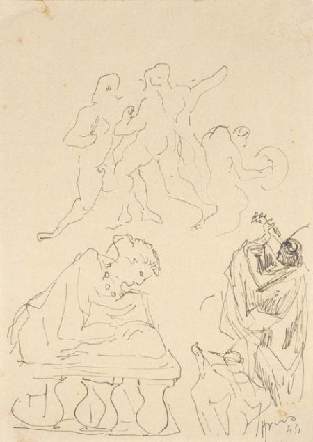 Lucio Fontana-Studi per figure-1944