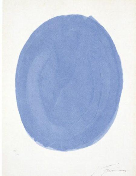 Lucio Fontana-Nudo azzurro-1967